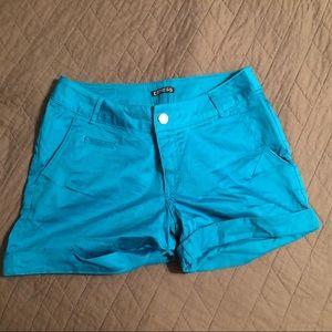Express blue/teal shorts